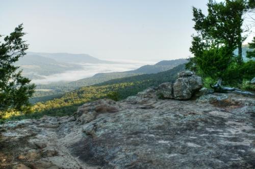 Looking NE; the Big Creek Valley