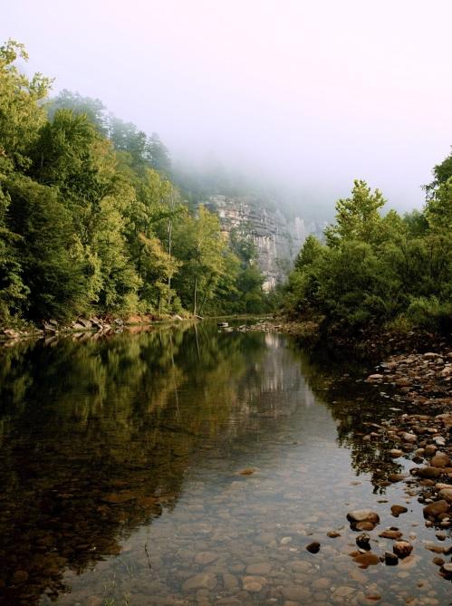 Looking downstream towards Roark Bluff